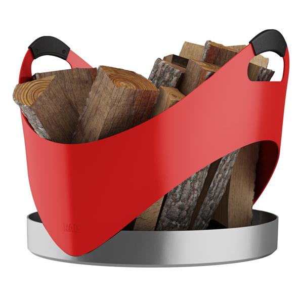 RAIS Accessories |  Rais Carry Red Firewood Basket
