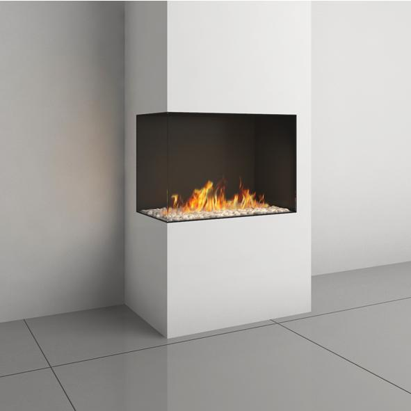 Robeys Fireplaces Ortal Ortal Clear 75 Corner Gas Fire