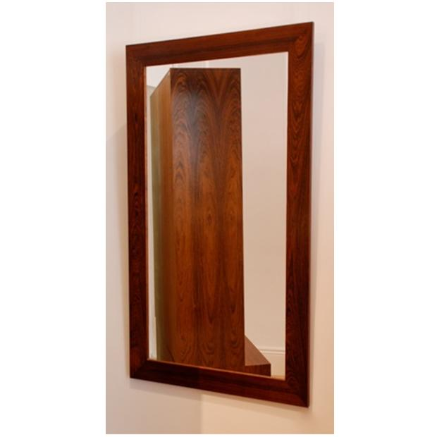Classic 20th Century Furniture | Danish Rosewood Frame Mirror