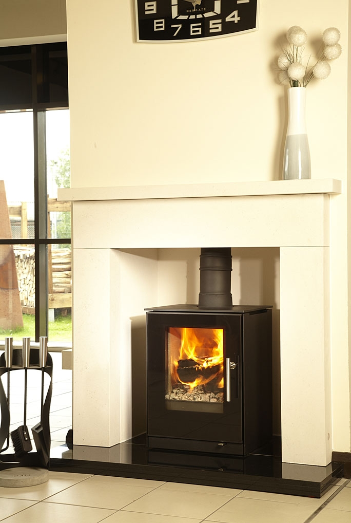 Live displays at robeys stove and fire showroom - Small space wood stove model ...