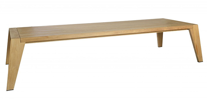 The Borek Hybrid Teak Low Dining Backless Bench, available from Robeys in Derbyshire