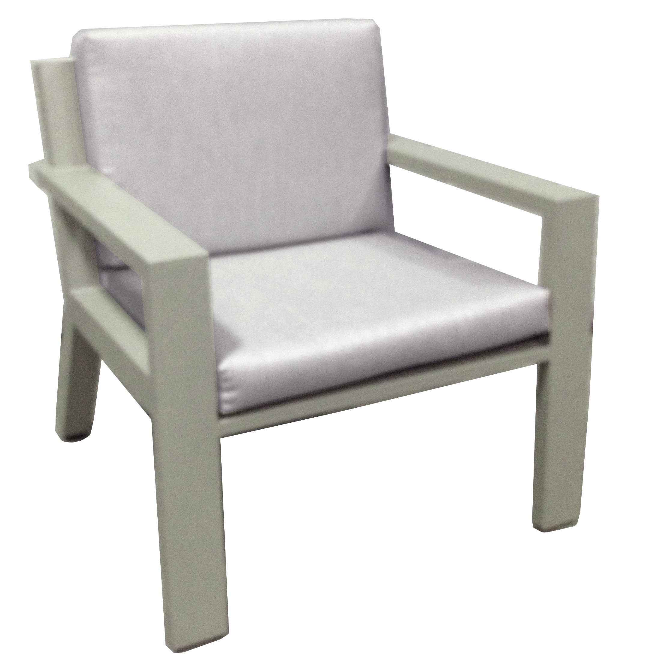 Borek Aluminium Low Dining Chair
