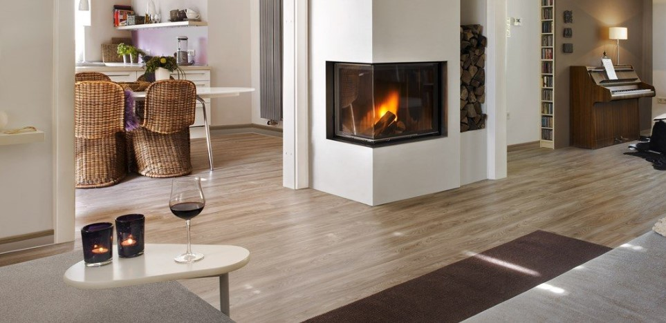 Brunner Architecture is a wood burning corner firebox, available in various sizes.
