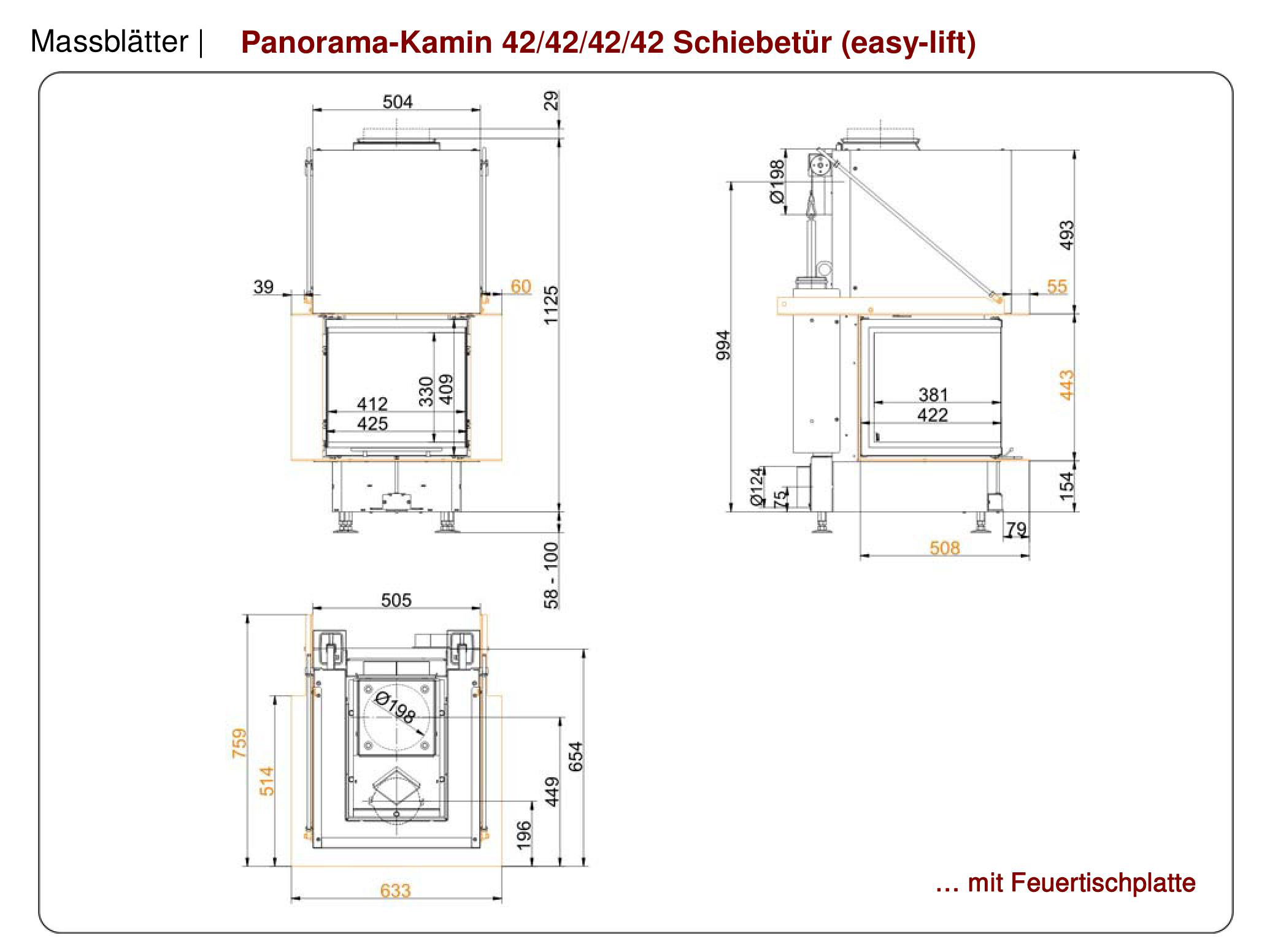 Brunner Panorama Wood Burning Three Sided Fireboxes From Robeys