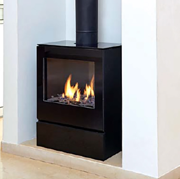 Classic Modern Freestanding Gas Fire from Ortal - Ex-display