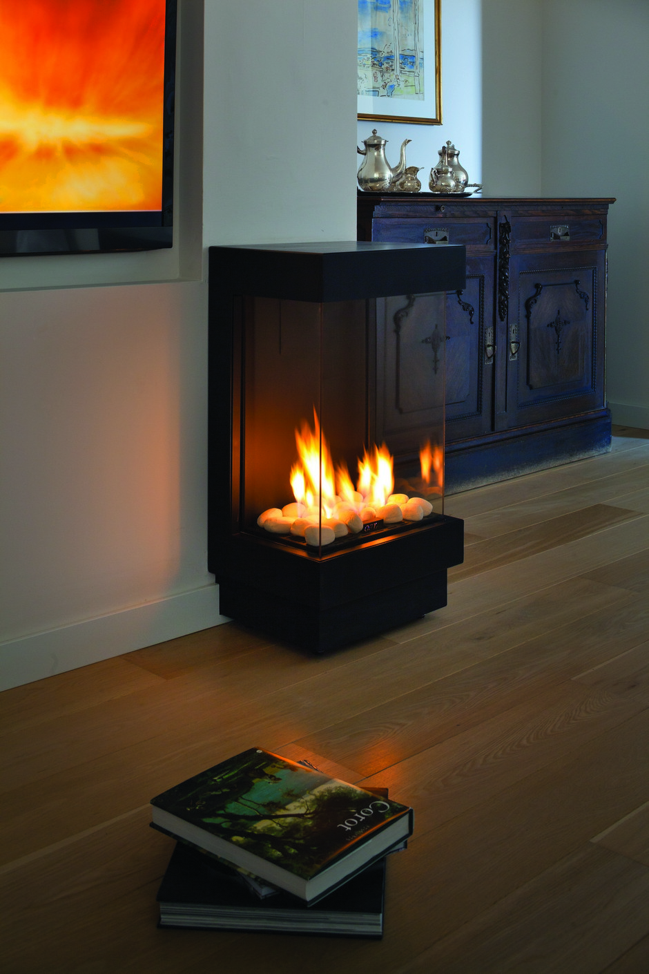 ortal standalone front and two side gas fire up to cm wide - there are a variety of standalone styles including freestanding cornersmall freestanding stove wide aspect wall mounted and decorative canopy
