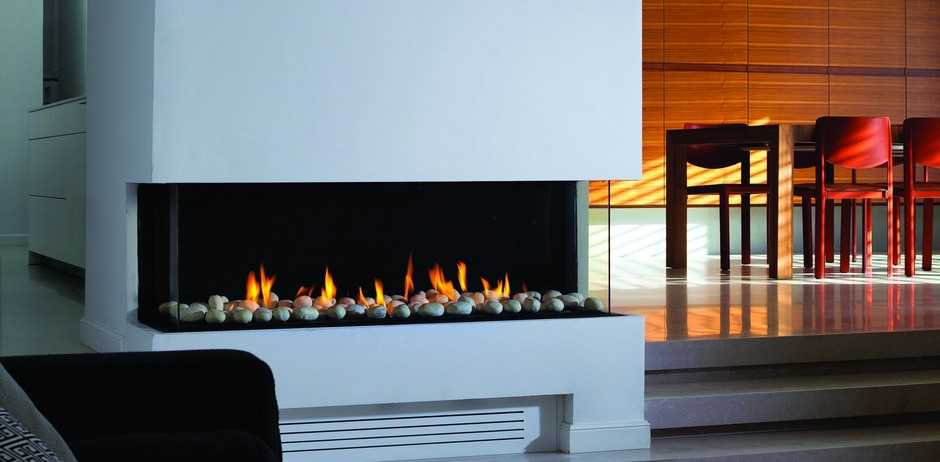 Pleasant Ortal Clear Ts 110 Three Sided Glass Gas Fireplaces From Robeys Interior Design Ideas Ghosoteloinfo