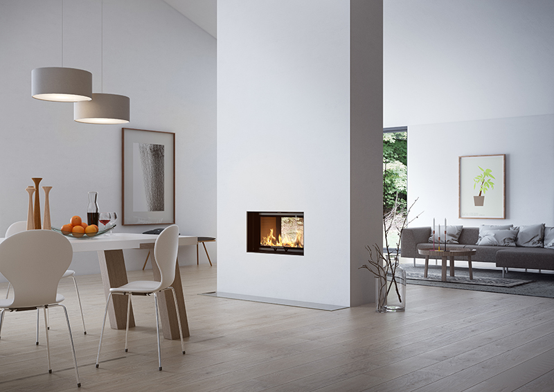 Rais Visio Tunnel 2:1 stove 6kw Defra room set