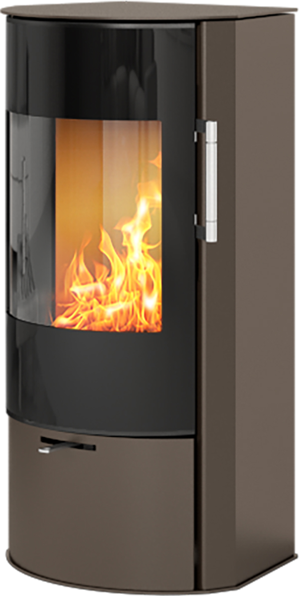 Rais Rina 4w Wood Burning Stove With Glass Door In Mocha Ex Display