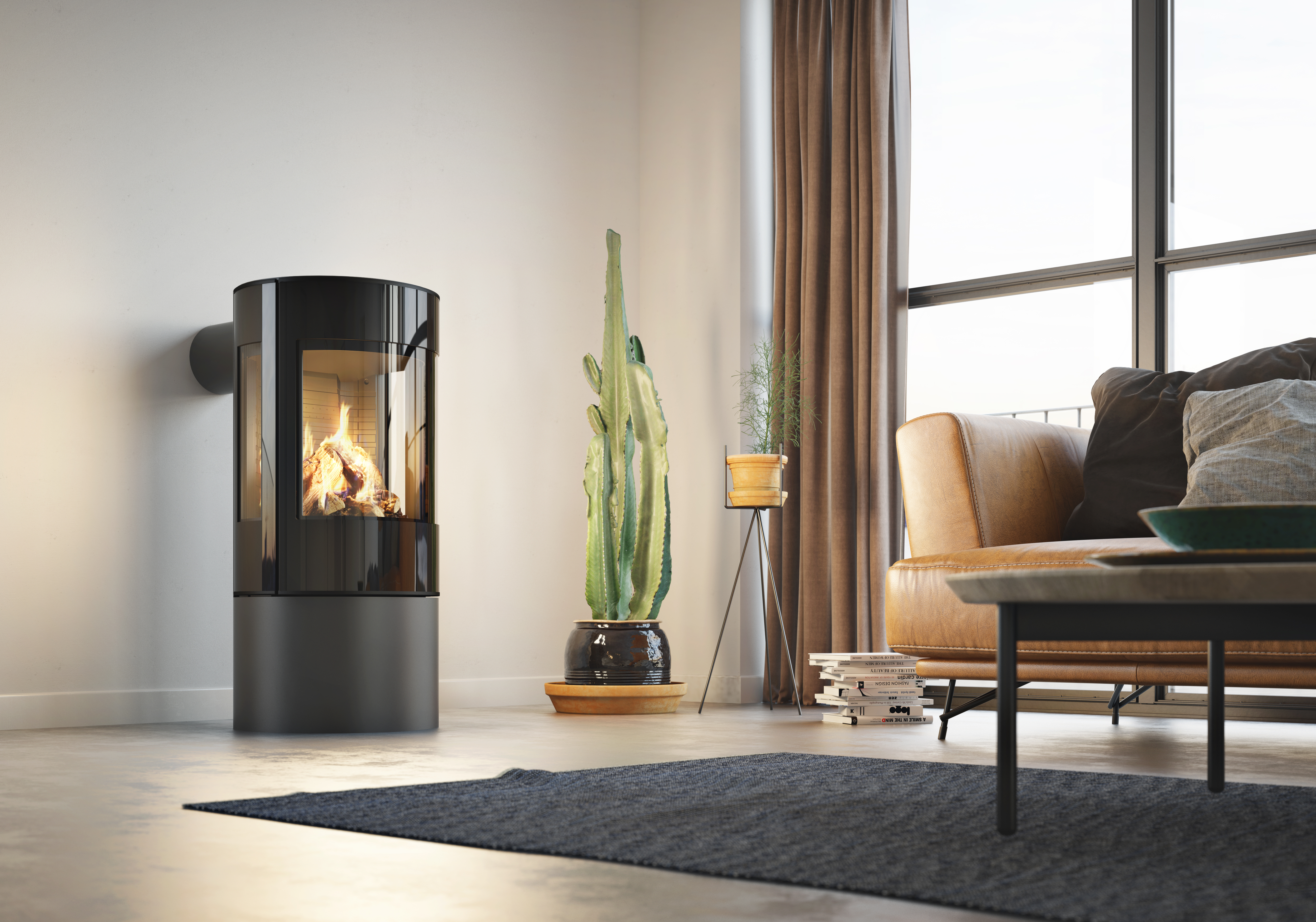 Rais Viva L 100 Gas fire in Black