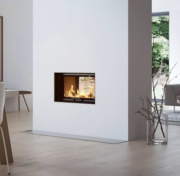 Visio Tunnel 2:1 Inset Wood Burning Fireplace 6kW