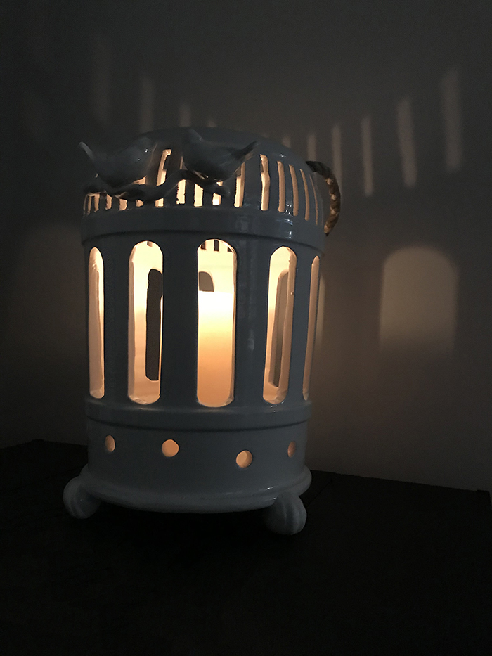 The Virginia Casa Bird Cage Lantern, available from Robeys in Derbyshire