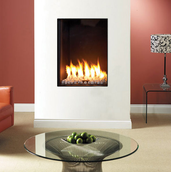 Clear 60 x 80 Front Facing Glass Fronted Gas Fire