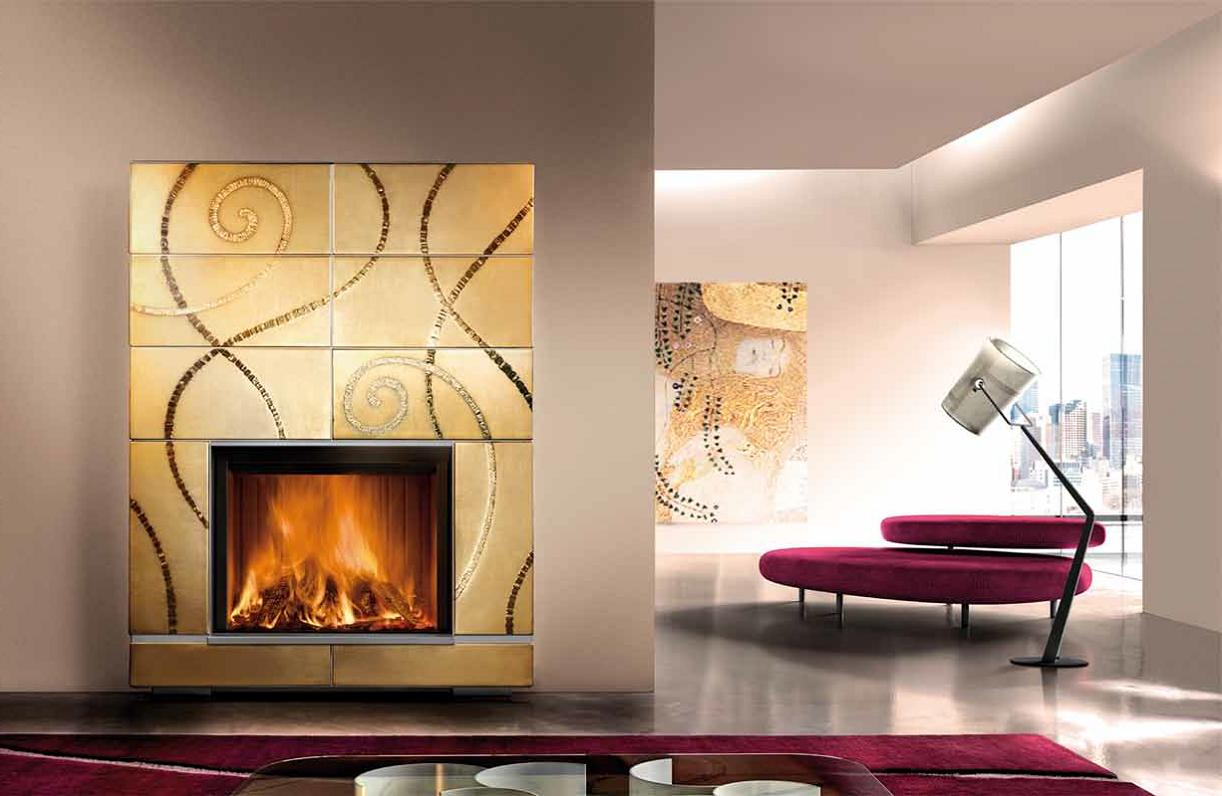 Design Cruise Gold Fireplace suitable for Wood