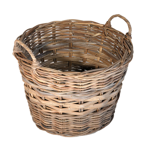Log Basket – Small Grey Log Basket 33 x 48cm