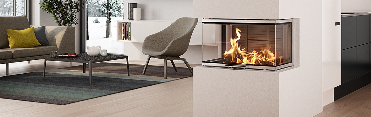 Rais Visio 3 Three Sided Inset Fireplace 7kw from Robeys