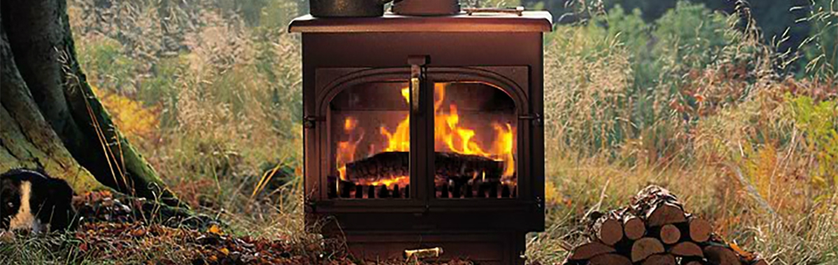 Vision 500 Smoke Control Wood Burning Stove Golden Fire Brown 2 ...