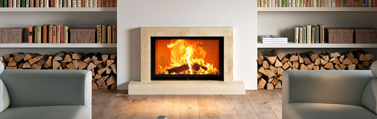 Brunner – Style Wood Burning Front Glass Fireboxes