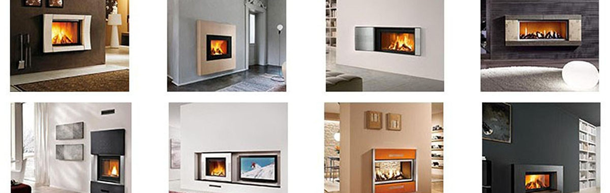 Piazzetta – Front Glass Only Hand Crafted Majolica Fireplaces