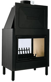 Piazzetta – HT2010 Double Sided Wood Burning Firebox