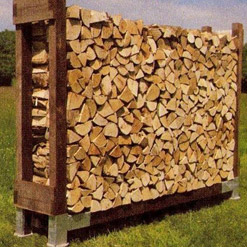 Standard Single Outdoor Log Store NO Roof