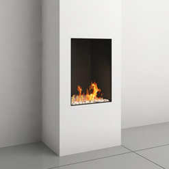 Clear 40 Front Facing Glass Fronted Gas Fire
