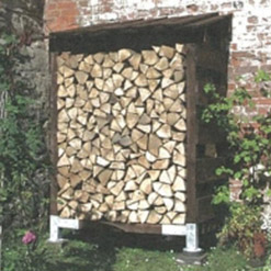 Compact Single Outdoor Log Store