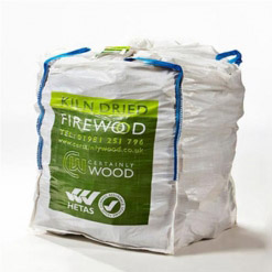 Kiln Dried Firewood Logs Bulk Bag 1.2m3