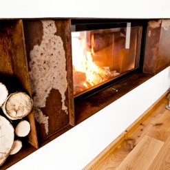 Architecture Wood Burning Front Glass Fireboxes