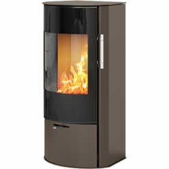 Rina 4w Wood Burning Stove with Glass Door in Mocha - EX DISPLAY