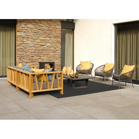 Borek Outdoor – Milano Sofa with Colette Lounge and Samos Coffee Table