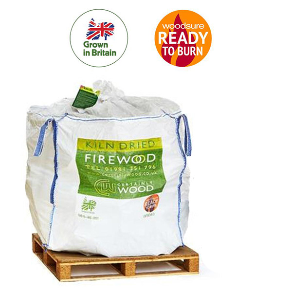 Certainly Wood – 25cm Long    Kiln Dried Logs Bulk Bag 1.2m³  For Smaller Fires  MOST POPULAR