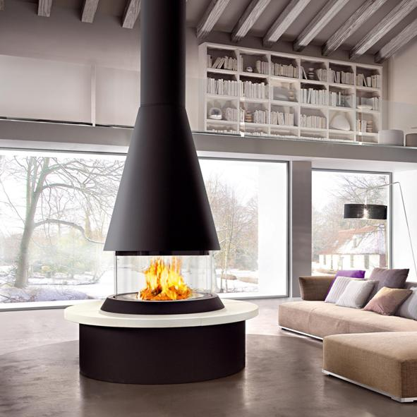 Piazzetta – Marvik Glass Fronted Fireplace with 360 Degree View