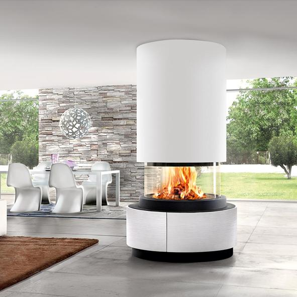 Piazzetta – Oslo Fireplace with 360 Degree View