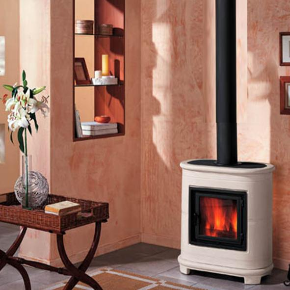 Piazzetta – E905 Wood Burning Stove in Bianco Antico - EX DISPLAY