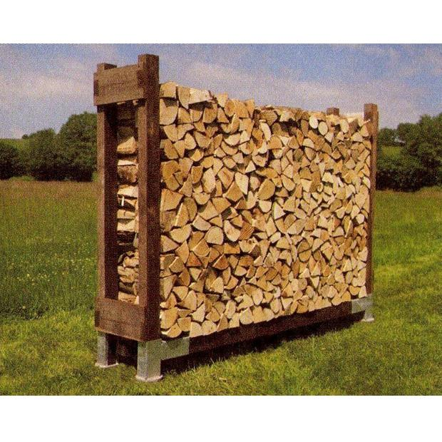 Clearview – Standard Single Outdoor Log Store NO roof