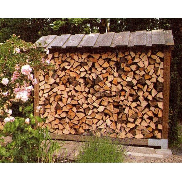 Clearview – Standard Single Outdoor Log Store with Lean to Roof