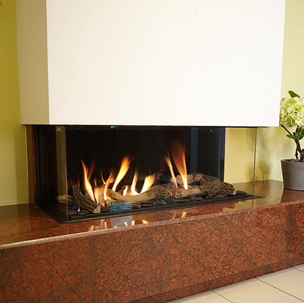 Ortal Clearance – 110 TS Three Sided Natural Gas Fire - EX WORKING DISPLAY