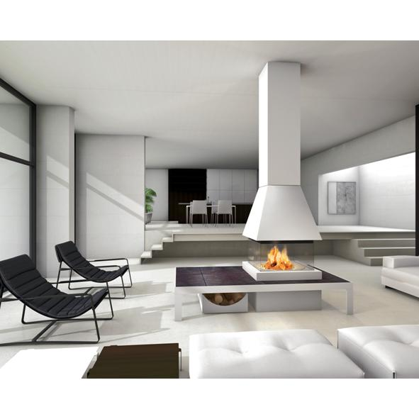 Piazzetta – Tallinn M360 Square Fireplace and Hood