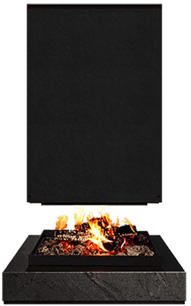 Brunner – Brunner URFEUER 4Free, Island Wood Burning Open Fire