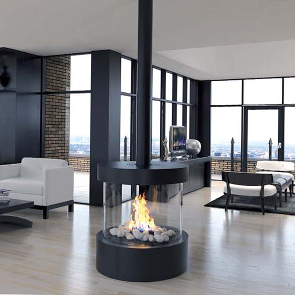 Ortal – Circle 70 Circular Glass Fireplace