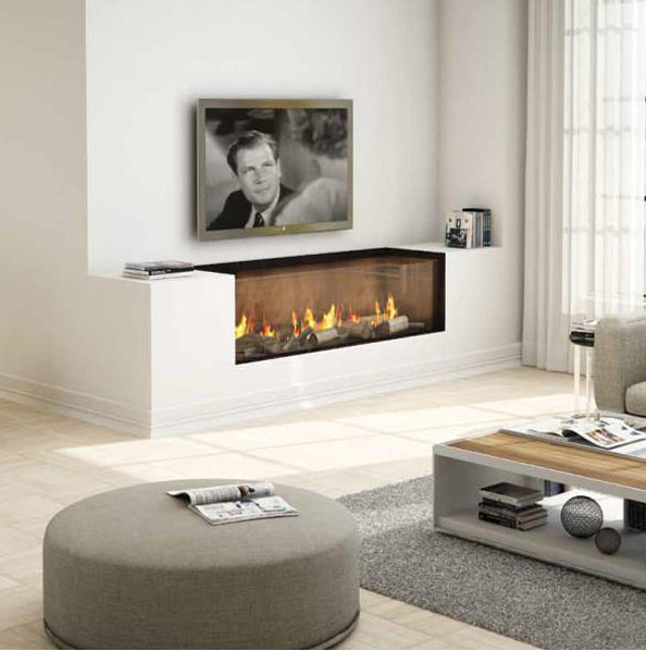 Ortal – Clear 130 Top Glass Fronted Gas Fire