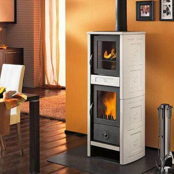 Piazzetta Superior Morena Wood Burning Stove With Oven 6kw