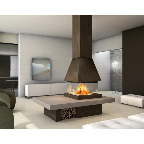 Piazzetta – Olden M360 Square Fireplace and Hood