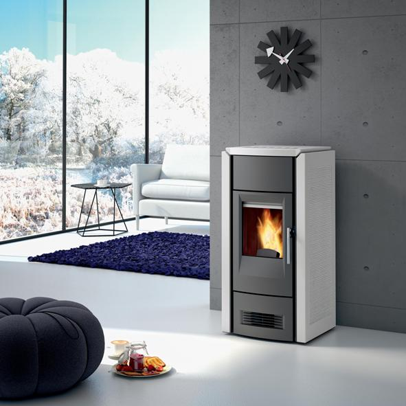 Piazzetta – P958D Wood Pellet Burning Stove in Ardesia