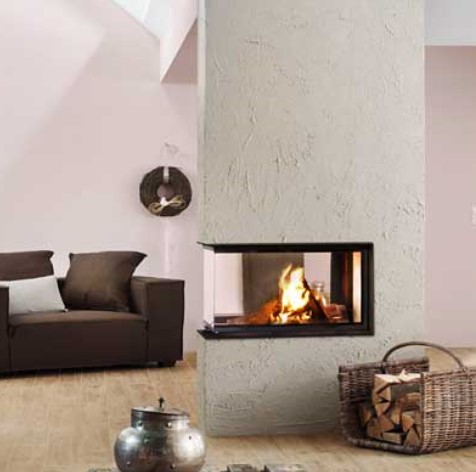 Brunner – Panorama Wood Burning Three Sided Fireboxes