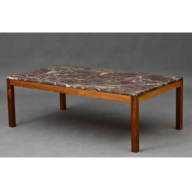 Classic Furniture – Danish Rosewood Marble Top Coffee Table